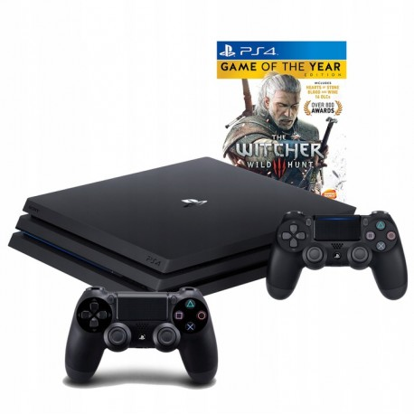 PLAYSTATION 4 PRO 1TB PS4+2X PAD + WIEDŹMIN III