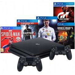 PS4 PRO 1TB PS4+2X PAD V2+5 GIER PO POLSKU