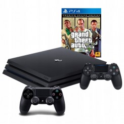 PLAYSTATION 4 PRO 1TB PS4+2X PAD+ GTA V PREMIUM