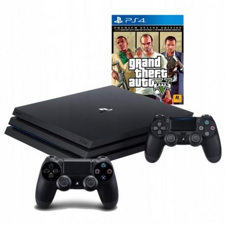 PLAYSTATION 4 PRO 1TB PS4+2X PAD+ GTA V PREMIUM