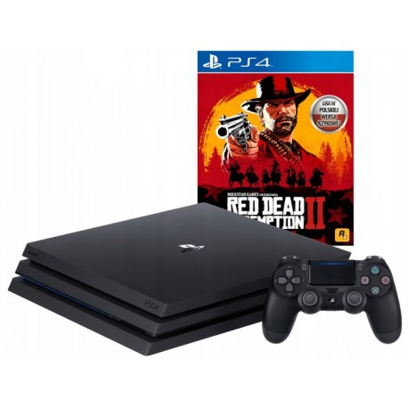 PS4 PRO 1TB + PAD V2 + RED DEAD REDEMPTION 2 PL
