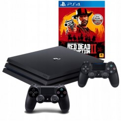 PS4 PRO 1TB + 2x PAD V2 + RED DEAD REDEMPTION 2 PL
