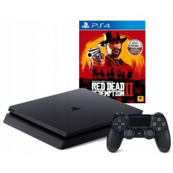 PS4 SLIM 500GB + PAD V2 + RED DEAD REDEMPTION 2