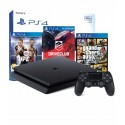 PS4 KONSOLA SLIM 500GB+ PAD+GTA V+UFC+DRIVECLUB