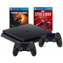 PS4 SLIM 500GB + 2x PAD V2 + SPIDERMAN+TOMB RAIDER