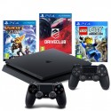 PS4 SLIM 500GB+2x PAD+RATCHET+DRIVECLUB+LEGO CITY