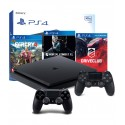 PS4 SLIM 500GB+2x PAD+DRIVECLUB+MORTAL+FAR CRY 4