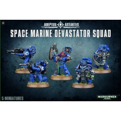 GAMES WORKSHOP WARHAMMER SPACE MARINE DEVASTATOR SQUAD