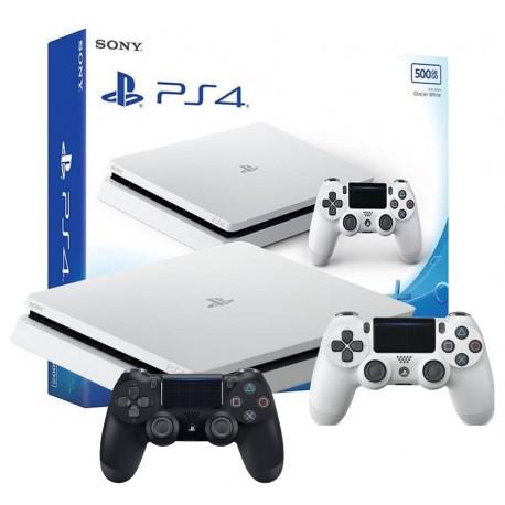 PS4 SLIM 500GB BIAŁA + DODATKOWY PAD V2