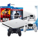 PS4 SLIM 500GB BIAŁA+2x PAD+RED DEAD 2+UNCHARTED 4