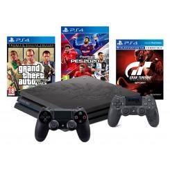 PS4 PRO LIMITOWANA + 2x PAD+ GTA V+GT SPORT+PES 20