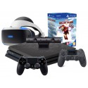PS4 PRO LIMITOWANA+2x PAD+ZESTAW VR+MOVE+IRON MAN