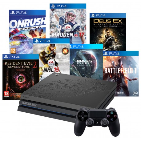PS4 PRO 1TB MOTYW THE LAST OF US 2 + PAD + 7 GIER
