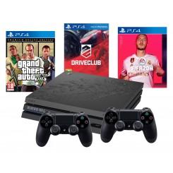 PS4 PRO 1TB MOTYW TLOU 2+2x PAD+GTA+DRIVECLUB+FIFA